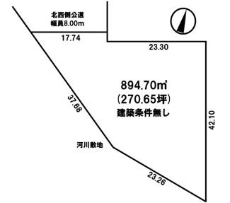 【土地図】西三輪5丁目 売土地