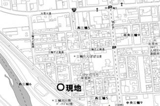 【地図】西三輪5丁目 売土地