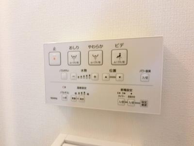 温水洗浄便座のスイッチパネル