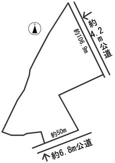 【区画図】54645 美濃市亀野町土地