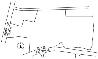 【区画図】54644 美濃市松森土地