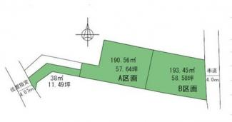 【土地図】高崎市新町売地B区画