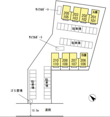【区画図】リュミエル B棟