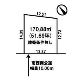 【土地図】美幌町字新町2丁目 売土地