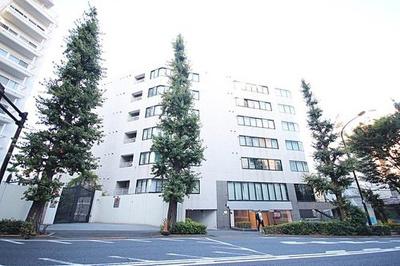 高級感のつくり、8階建て総戸数78戸のマンションです。