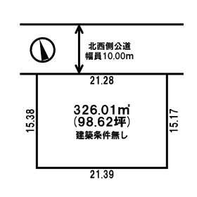 【土地図】留辺蘂町上町 売土地
