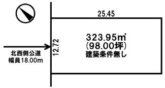 【土地図】北四条東4丁目 売土地