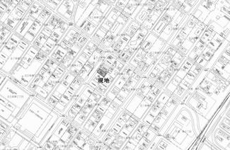 【地図】北四条東4丁目 売土地