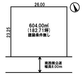 【土地図】美幌町字野崎 売土地