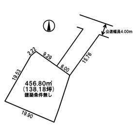 【土地図】美幌町字青山南 売土地
