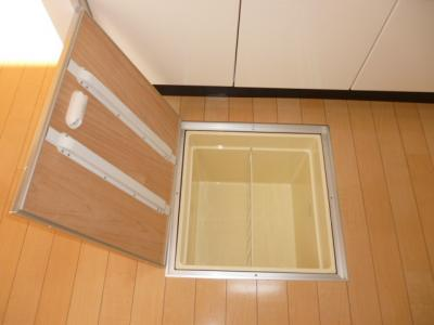 キッチンに床下収納あり(^O^)