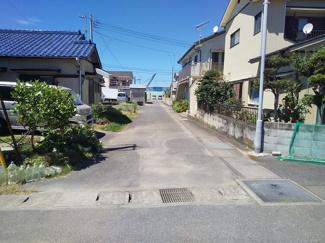 【前面道路含む現地写真】館山市沼105坪 土地