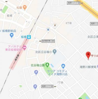 【地図】ルクス板橋