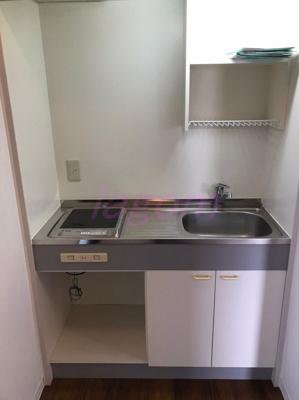 システムキッチン。1口IHコンロ