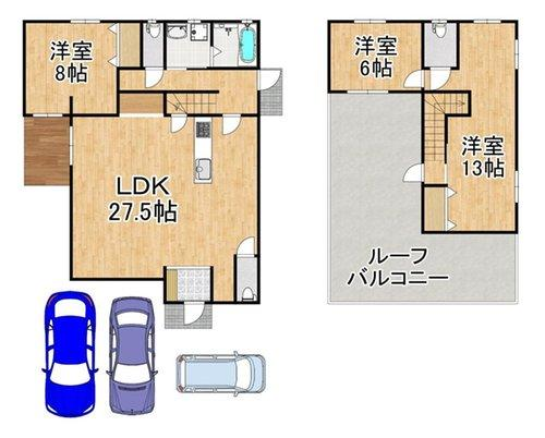 価格4100万円 土地面積171.84㎡ 建物面積119.66㎡