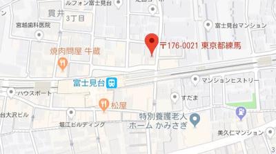 【地図】リクレイシア富士見台