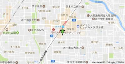 【地図】フェリーズ茨木