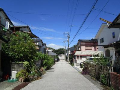 津波浸水区域外の住宅団地です