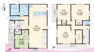 四街道市物井 新築一戸建て 物井駅 4LDK、全室収納付き!設備、仕様が最新です!