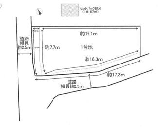 【区画図】守山市二町町 1号地 新築戸建