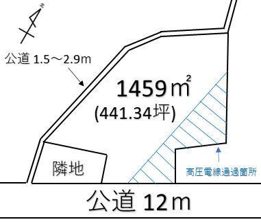 【土地図】熊谷市高柳 6180万 土地