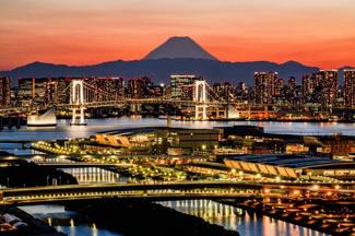 バルコニーからはレインボーブリッジや富士山が望めます(2020年4月撮影)