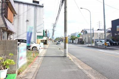【前面道路含む現地写真】伏見区桃山南大島町 注文建築 建築条件なし 土地