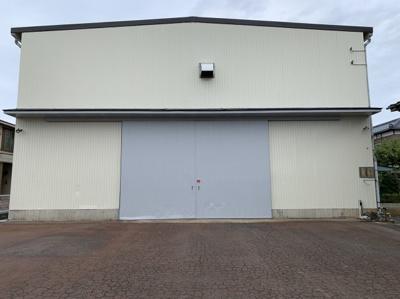【外観】新潟市南区マーケットシティ白根隣接 売倉庫