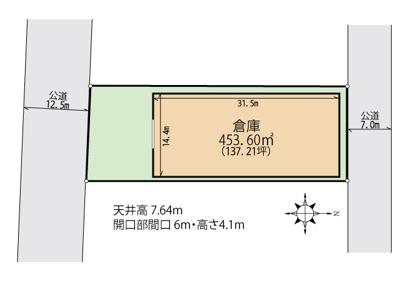 【区画図】新潟市南区マーケットシティ白根隣接 売倉庫