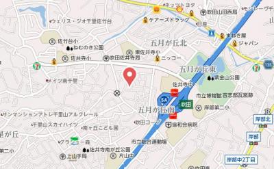 【地図】アルトピノ五月が丘