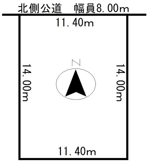 【区画図】北見市西富町3丁目123番32 戸建住宅