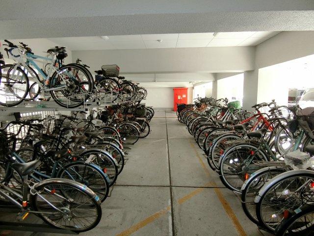 駐輪場や駐車場も管理人さんの手が行き届いており、 綺麗に整備されています。