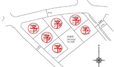 【区画図】甲斐市篠原 全7区画 分譲地