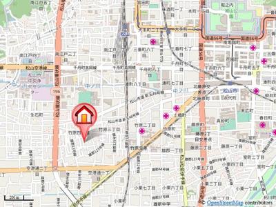 【地図】シャトレー竹原 C棟