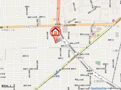 【地図】セジュール西村 A棟