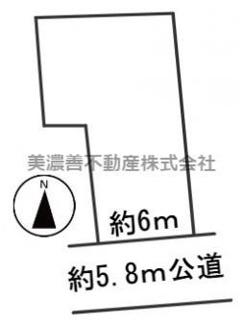 【区画図】55515 岐阜市忠節町土地