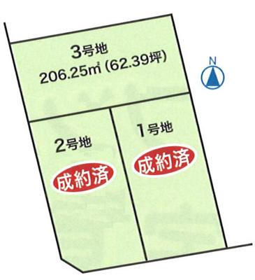 【区画図】土佐山田町秦山町 3号地