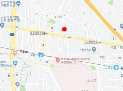 【地図】ソーシャルアベニュー・上北沢