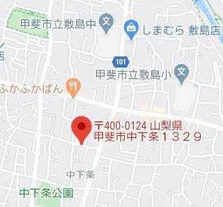 【地図】甲斐市中下条 土地 No.1