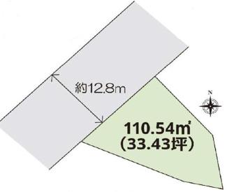 【区画図】高崎市石原町 売地