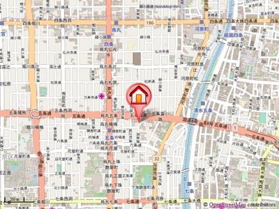 【地図】ベルク五条高倉