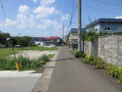 【前面道路含む現地写真】大館市幸町・売地