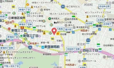【地図】パレ・ドール新宿