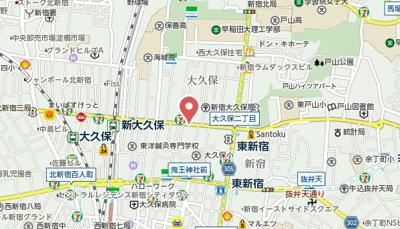 【地図】シルバービル大久保