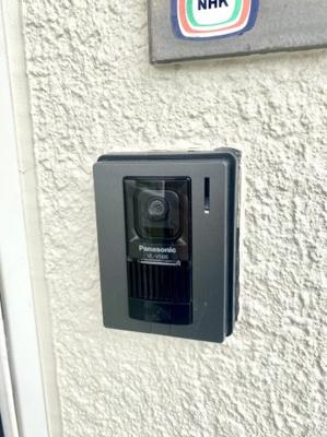 TVモニター付インターホンと電子錠