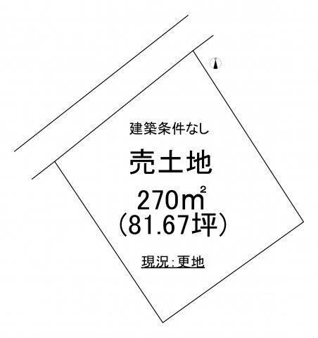 【土地図】勿来町酒井関根前 売土地