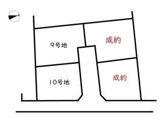 【区画図】Freedom&LivingTown小宅北/3期/4区画