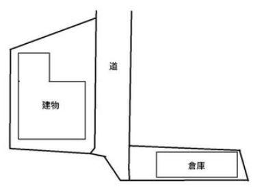 【区画図】甲府市荒川1丁目 中古住宅