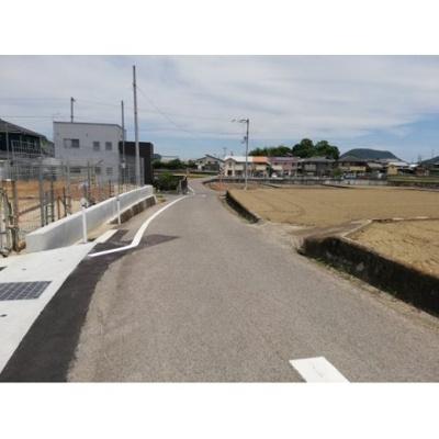 【前面道路含む現地写真】飯山VENTO C号地