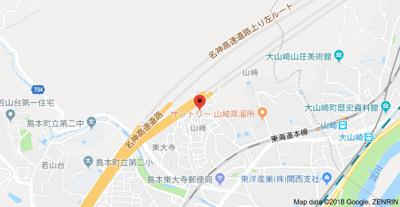 【地図】奥田ハイツⅢ (株)Roots